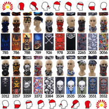 2015 Multifunction Neck Tube Cartoon Seamless Bandana   Headwear Motorcycle   Headband Skull Scarf Men Mask