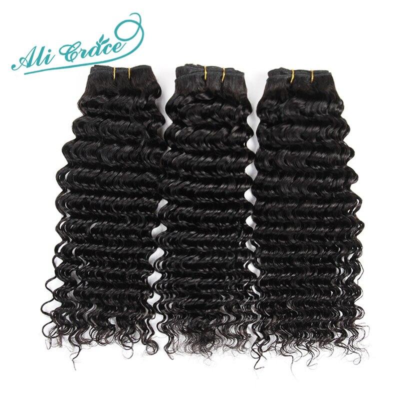 Ali Grace Mongolian Virgin Hair Deep Wave 3pcs Mixed 12-28 Inch Natural Black Hair Can Be Dyed Cheap 100% Human Hair Extensions<br><br>Aliexpress