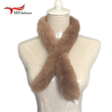 Women Real Fur Scarves Rex Rabbit Fur Fashion  New Shawl Scarvf Solid Russian Winter Scarf S#16