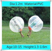 Dia 1.2m PVC inflatable human hamster ball, bubble football, soccer zorb ball, zorbing bumper ball, bubble bumpers