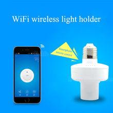 Itead Sonoff E27 WiFi light Bulbs Holder Slampher 433MHz RF Wireless Light Holder For Smart Home IOS Android honeRemote Control