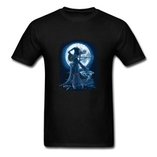 Custom Shirt Printing Full Moon Shines On Old Guitarist Blues Team Screen Print Cotton Short Sleeve T-shirts Plus Size