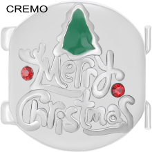 Cremo Merry Christmas Initial Connector Red Tree Changeable Elastic Charm Link Modular Inventive Bracelet Jewelry Accessories(China)