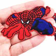 Wholesale 10pcs Batman superman spiderman cartoon Patches iron on  Embroidered Applique bags Badges DIY Apparel Clothing 946ca2506c7e