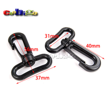 "10pcs Pack 1-1/4"" Webbing Heavy Duty Plastic Swivel Snap Hook for Backpack Buckle Belt Strap #FLC419-31B"