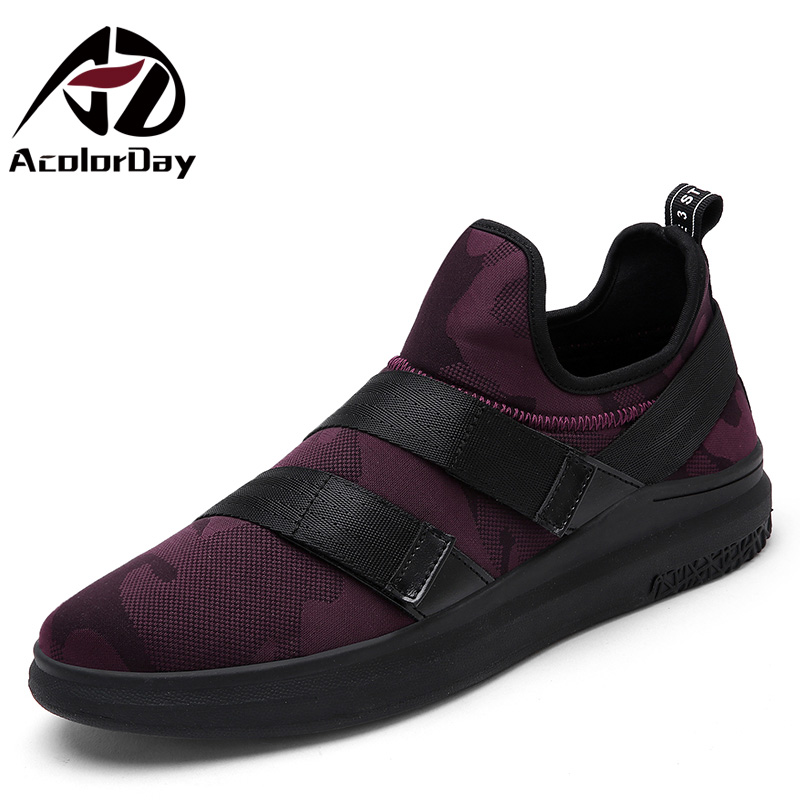 AD AcolorDay 2017 Fashion Classic Style Slip on Men Casual Shoes Spring Autumn Breathable Male Shoes High Quality Men Trainers<br><br>Aliexpress