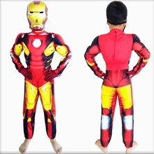 halloween party cosplay clothes Birthday Boys children's Iron Man muscle Costume Ironman superhero movie costumes Christmas Gift(China)