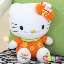 23cm 9inch Hot sale new KT cat doll Hello Kitty Plush Doll birthday gift for children plush toys1pcs(China)