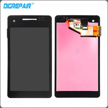 For Sony Xperia V LT25 LT25I LCD display touch screen with digitizer Full Assembly Replacement Parts , Black Free shipping !!!