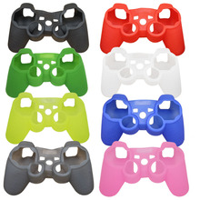 blueloong Soft Anti-Slip Silicone Rubber Skin Case Cover For Sony PlayStation Dualshock 3 PS3 Controller Game Accessories
