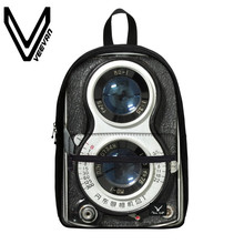 VEEVANV Brand 2017 Camera Image Book Backpack 3D Prints Study Bags Casual Students Backpack Canvas School Backpack for Teenagers