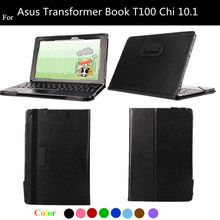 T100 CHI Lichee Pattern Flip PU Leather Case For Asus Transformer Book T100 Chi 10.1 Protect Cover + protectors