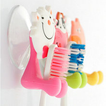 Bathroom Cute Cartoon Animals Silicone Sucker Cup Toothbrush Holder Wall Hanger