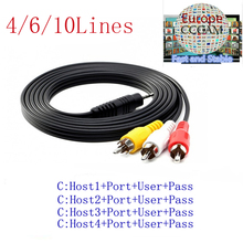 HD AV Cable 1 Year CCcams Clines for Satellite Receiver DVB-S2 via USB wifi(China)