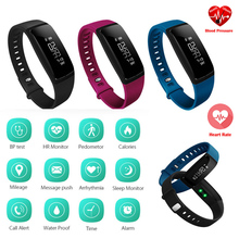 Blood Pressure Smart Wristband V07 Pedometer Smart Bracelet Heart Rate Monitor Smartband Bluetooth Fitness For Android IOS Phone(China)