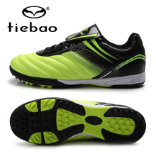 TIEBAO Professional Men Women Athletic Training Sneakers Outdoor Sport Soccer Shoes TF Turf Rubber Sole Football Boots EUR 39-44
