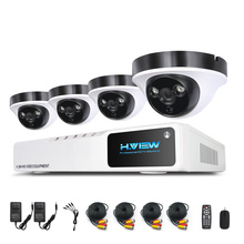 H.View Video Surveillance Kit 4 CH Video Surveillance System 4 1080P CCTV Camera System Kits 8 CH 1080N DVR Easy Phone Access