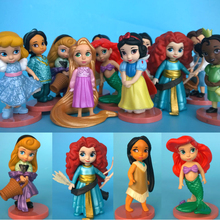 Animators Collection Deluxe Figure childhood princess snow wthie Little Mermaid Jasmine Play Set 11pcs(China)