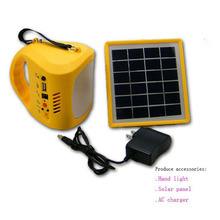 Portable Solar Kits Radio Solar Power Generator Hand Lamp for Camping 9 LED Flashlight Outdoor Hand Home Light Lamp Lighting