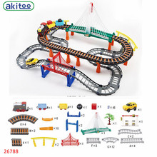 New arrival akitoo  Thomas 26788 Super Large Double Track With Rainbow Bridge Set Boys And Girls Puzzle Assembled Toys
