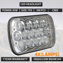 "7""X6"" LED HID HeadLight Bulbs Crystal Clear Sealed Beam 5D Lens Led Headlamp Fit For Corvette Tacoma Corvette Pickup x4pcs/lots(China)"