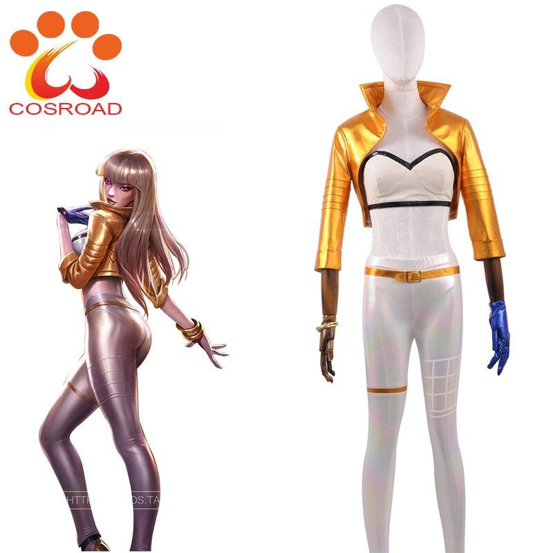 Cosroad LOL Prestige Edition KDA Kaisa Cosplay Costume Wigs for Halloween Party
