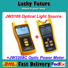 JW3109 Optical Light Source Power Meter -50~+26dBm JW3208C Laser Tester Device Fiber Network Optical Light Source Power Meter(China)
