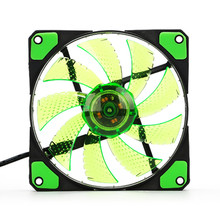 Centechia Green 120mm 3-4Pin 15 LED Light Quite Clear Fans PC Computer Case CPU Cooling Fan New Arrival(China)