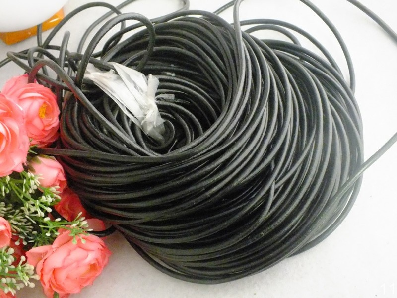 100meters/lot 3mm diameter genuine round cow leather cord jewelry cord DIY accessories  W-3969