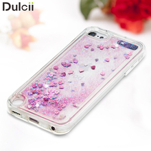 Capa Coque for iPod Touch 6 TPU Back Cover Bling  Powder Sequins Quicksand Liquid TPU Soft Phone Case for iPod Touch 6 / Touch 5
