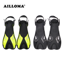 AILLOMA 2018 Adult Adjustable Buckle Diving Fins Flipper TPR soft Rubber Underwater Duck Feet Snorkeling swimming Equipmennt(China)