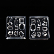 "Doreen Box Silicone Resin Mold For Jewelry Making 10 Mixed Shape White 75mm(3"") x 60mm(2 3/8""),1 Piece 2017 new(China)"