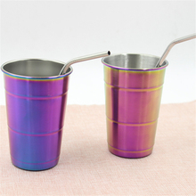 Oneday  Premium Grade 304 Stainless Steel Pint Cups Beer Tumblers Coffee Mugs Glasses with Rolled Rim 500ml
