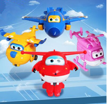 Cool!!! New Super Wings Deformation Airplane Robot Action Figures Super Wing Transformation toys for children gift Brinquedos(China)