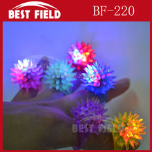 Free Shipping 36pcs/lot led thorn finger ring Led Rubber Finger Light Beam Ring Torch novelty finger light Party Wedding(China)