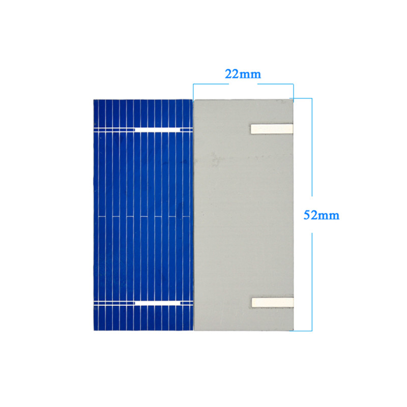 100Pcs Aoshike Solar Panel China Painel Solar Sunpower Polycrystalline DIY Solar Battery Charger 52*22mm 0.19W 0.5V 6