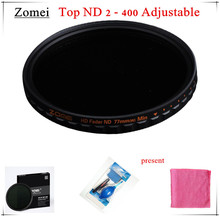 Top UHD Zomei 67mm Adjustable ND Filter ND2 - 400 Germany Schott Glass 18 Layer Coating Oil Soil + Clean Kit for Canon Camera
