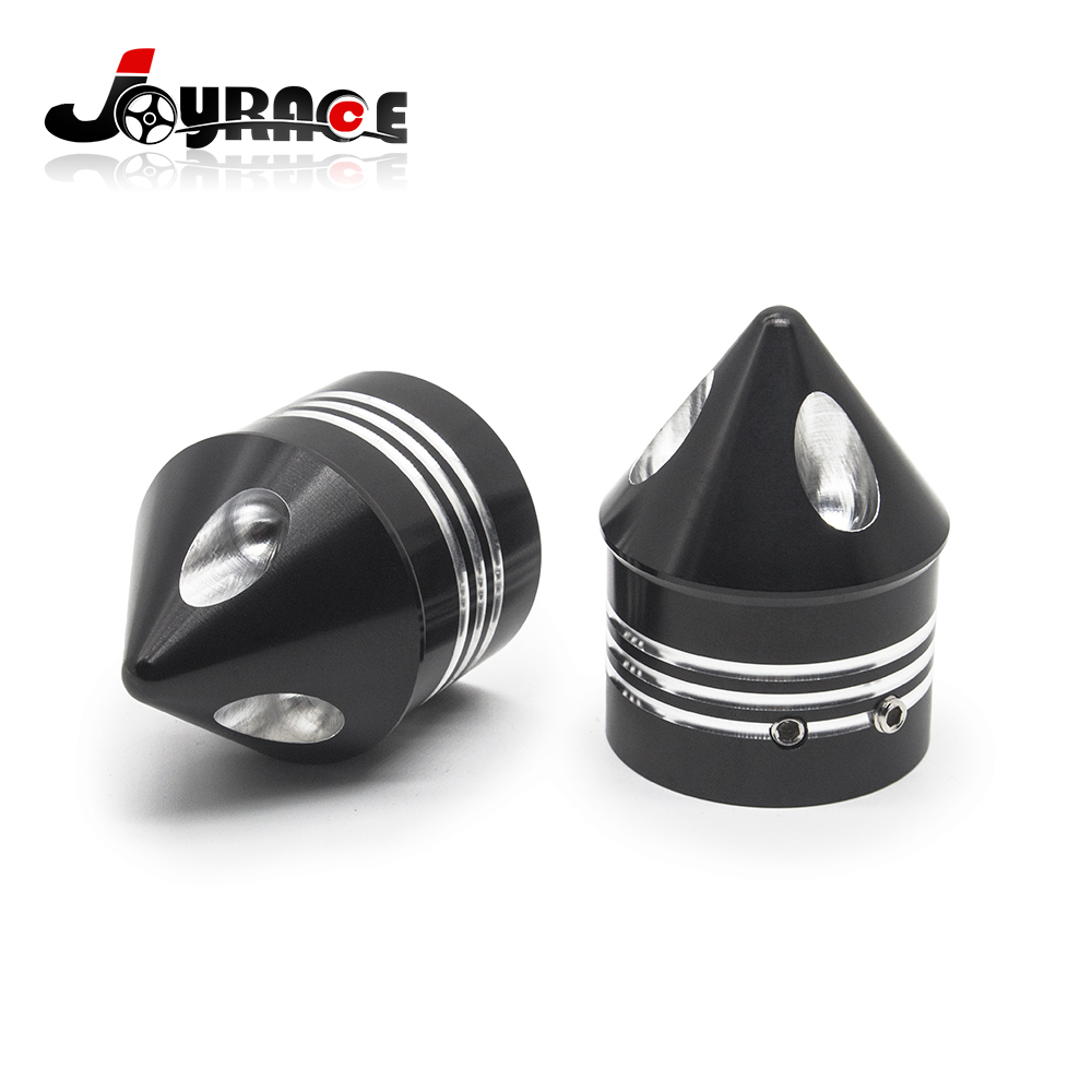 Black Deep Edge Cut Motorcycle Front Axle Cover Cap Nut For Harley Sportster XL 883 XL 1200<br>