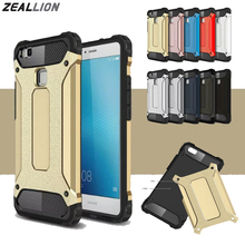 ZEALLION For Huawei P8 P9 P10 Lite Plus Nova Plus Mate 8 9 Case Luxury Steel Hybrid Soft TPU + Hard PC Silicone Back Cover