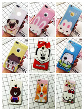 Cartoon Hello Kitty Mickey Net Hollow Cooling Phone Cover Case for iPhone 6 6s Plus 7 7 Plus Ultra Thin Hard Plastic Capa Shell