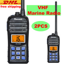 2PCS VHF Marine Radio IP67 Waterproof Walkie Talkie RS-35M LCD Display 5W/1W Float Handheld Two Way Ham Radio 70 Channels