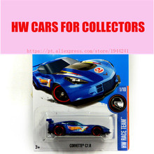 Toy cars Alloy Mini Roadster Diecast Cars Corvette C7 R Models For Collection Wholesale Metal Cars Hot Wheels 1:64 1:144(China)