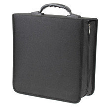 Portable 320 Disc Capacity CD Storage Holder Carry Case Wallet Bag Cover Box DVD Organizer Durable Dustproof Black