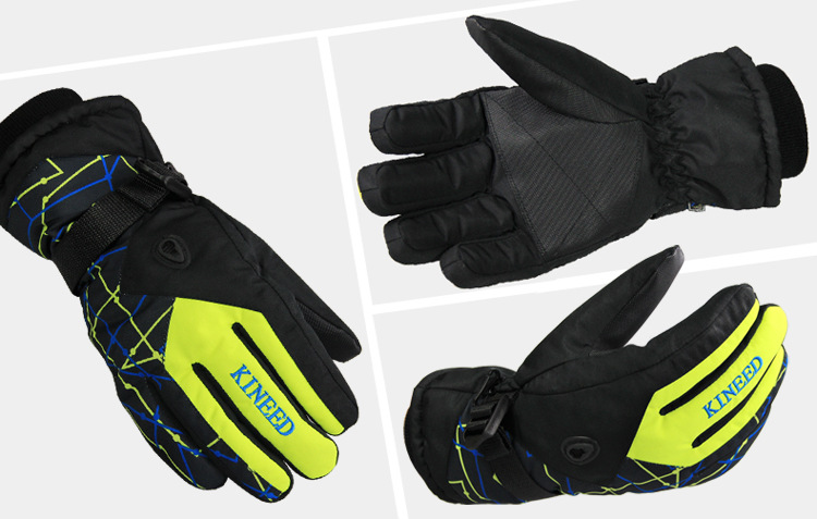 Men Women Ski Gloves Winter Waterproof Anti-Cold Warm Gloves Outdoor Sport Snow Sportswear Skiing Gloves 3