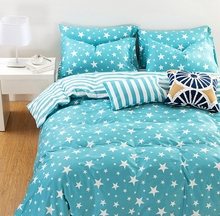 235CM*50CM Blue stripe star  cotton cloth kids baby bedding sheets quilt fabric material for sewing baby cloth