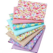 40X50CM Floral Cotton Quilting Fabric Fat Quater Bundles Patchwork Fabrics Sewing Cloth For Doll Dress Bedding J2-8-6(China)