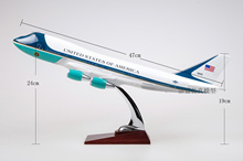 Brand New Plane Model Toys Boeing 747 Air Force One Diecast Resin Airplane Model Toy For Gift/Collection/Decoration