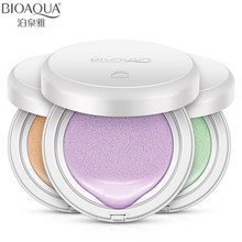 BIOAQUA Brand Air Cushion Liquid Foundation Face Base Makeup Primer Concealer Brighten Whitening Nude Skin Use Before BB Cream(China)