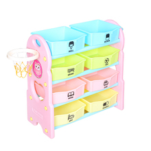 Children's toy collection box cartoon cabinet multi - function large - sized plastic kindergarten baby multi-layer sorting box(China)