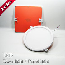 Ultra-narrow edge LED Downlights Panel lamp Round Square Embedded 8W/16W/22W/30W Downlight for Kitchen/Foyer/Balcony/Corridor(China)